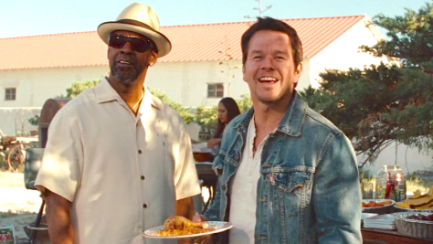 2 Guns (2013), Denzel Washington, MarkWahlberg, Fried Chicken