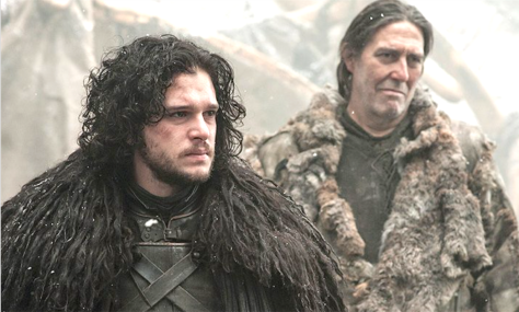 Game Of Thrones (2011-), Kit Harrington (Jon Snow) & Ciarán Hinds (Mance Rayder)