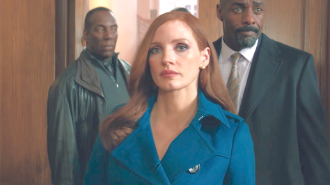 Molly's Game (2017), Jessica Chastain, Idris Elba