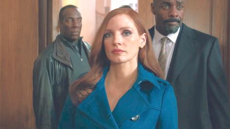 Molly's Game (2017), Jessica Chastain, Idris Elba