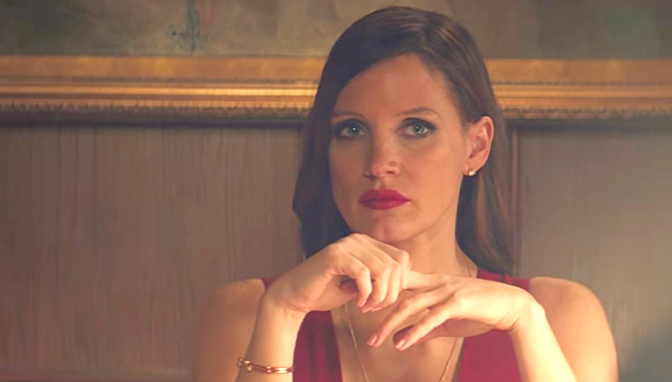 MOLLY'S GAME (2017): New Trailer Aaron Sorkin, Starring Idris Elba, Jessica Chastain, Kevin Costner, Michael Cera…